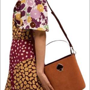 Kate Spade Suede Brown  Suzy Bucket bag